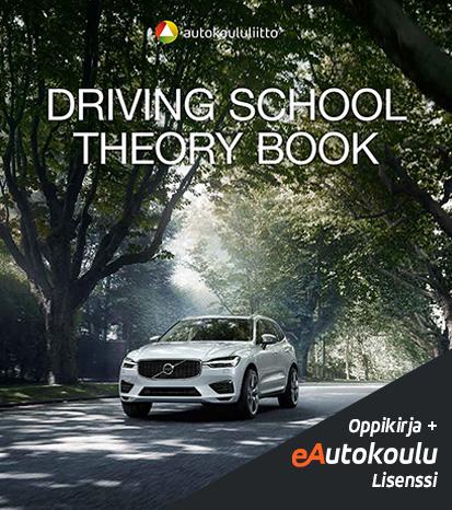 Autokoulun oppikirja ja oppilaslisenssi ENG